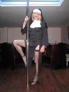 Pole-dancing Nun!